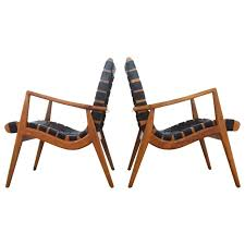 Adirondack Chairs Asheville Nc by Sculptural Pair Of 1950s Mel Smilow Walnut And Leather Lounge