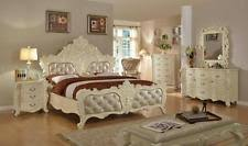 Bedroom Sets Traditional Style - meridian novara queen size bedroom set 5pcs in pearl white