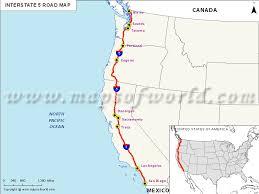 map us route 1 interstate 5 i 5 map usa san ysidro california to blaine