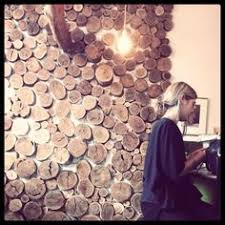 wood circle wall but on a large wall dramatic go big or go
