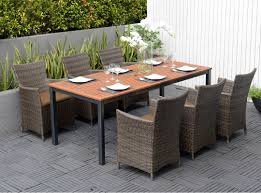 Eucalyptus Outdoor Table by Outdoor Patio Dining Set Featuring An Fsc Eucalyptus Slatted