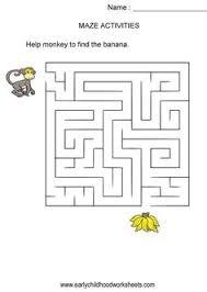 dragon maze visual perception and fine motor skills worksheet