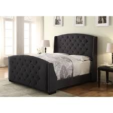 Charcoal Gray Bedroom Set Bed Frames Tufted Queen Bed Frame Cheap Tufted Bed Upholstered