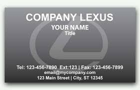 lexus card business card for lexus dealerships with logo