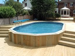 30 u0027 x 15 u0027 aluminium above ground pool with decking surround