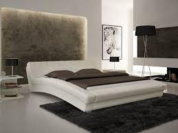 platform bed furniture bedroom black leather queen size platform