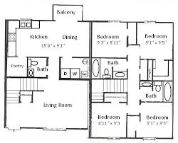 four bedroom floor plans basham rentals 204 s salisbury st 4 bedroom floor plan