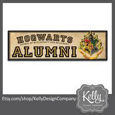 hogwarts alumni bumper sticker hogwarts alumni bumper sticker harry potter humor hogwarts