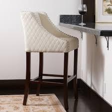 White Leather Bar Stool Swivel Stool Iron Bar Stools Outdoor White Chrome And Leather