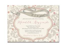 its a baby shower invitation vintage gray u0026 pink baby
