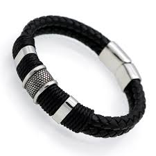 Handmade Mens Bracelets - handmade genuine leather weaved layer leather bracelets