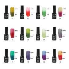24 optional 1pcs temperature changing color nail polish lacquer