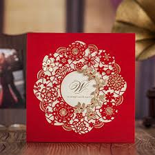 Laser Cut Invitation Cards Yufeng 24pcs Laser Cut Hollow Out Wedding Invitations Cards Kit