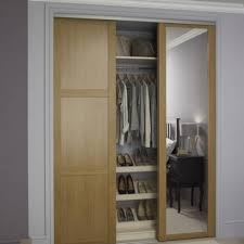 Sliding Wardrobes Doors Sliding Door Oak Wardrobe Oak Shaker Panel U0026 Mirror Door Sliding