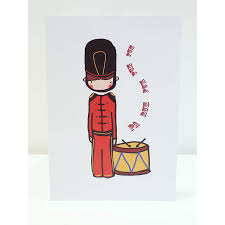 card pack six drummer boy cards by stripey pipey