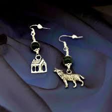 my chemical earrings shop beaded wolf earrings on wanelo