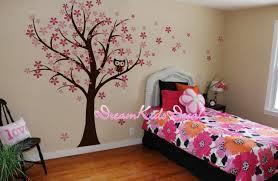 stickers arbre chambre fille hibou et cerisier des oiseaux fleur arbre mur stickers chambre