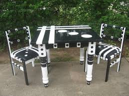 black and white kitchen table hand painted kitchen tables and chairs my web value