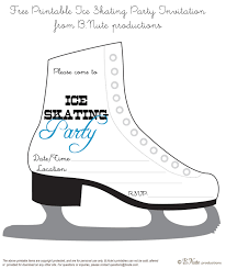 printable templates for invitations 11 best images of ice skating party invitation free printable