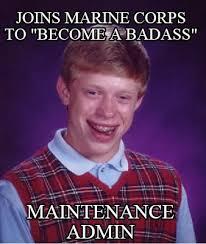 Badass Meme Generator - meme creator joins marine corps to become a badass maintenance