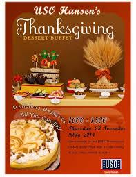 uso hansen s thanksgiving dessert buffet uso okinawa