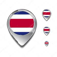Costarican Flag Costa Rica Flag Map Pins U2014 Stock Vector Ibrandify 93710392