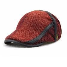 barret hat unisex knitted beret hat knitting buckle adjustable paper boy
