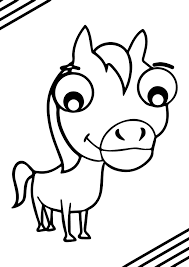 cartoon horse coloring page wecoloringpage