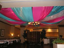 ceiling draping pink and blue ceiling drape event decor and more
