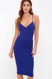 blue bodycon dress chic royal blue dress bodycon dress sleeveless dress 54 00