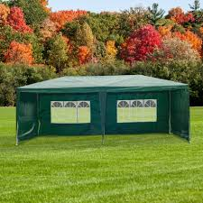 2 X 2 Metre Gazebo by Outsunny 6x3 M Gazebo Marquee Green Aosom Co Uk