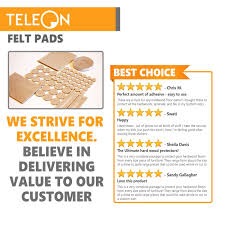 Hardwood Floor Furniture Grippers by Amazon Com Teleon Premium Furniture Felt Pads Set 142 Piece