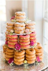 great idea instead of a classic cake why not have a fun donut