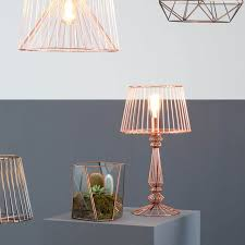 Copper Table Lamp Industrial Style Antique Or Copper Table Lamps Buy Online At Zurleys