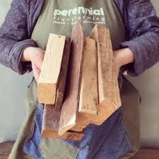 salvaged wood block lamps perennial