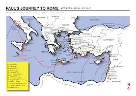 1 8 Maps A Map Showing The Apostle Paul U0027s Journey To Rome To Face Caesar