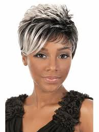 salt and pepper pixie cut human hair wigs hot sale pixie cut style synthetic wigs free shipping short wavy