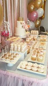 pink and gold cake table decor romelia cordeiro wedding centerpieces pinterest candies