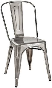 Galvanized Bistro Chair Amazon Com Crosley Furniture Amelia Metal Cafe Chair Galvanized