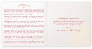 One Page Wedding Program Henna Watermark Indian And Hindu Wedding Programs Documents And