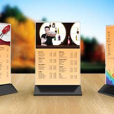 standard table tent card size table tent card two side