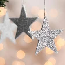 small silver glitter ornaments ornaments