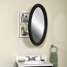 black framed recessed medicine cabinet furniture captivating oval bathroom mirror and mirrored bathroom