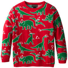 alex stevens big boys u0027 ugly christmas sweater dinosaur scatter