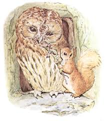 public domain images 10 color drawing of squirrel giving owl a flower