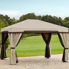 Pergola Gazebo With Adjustable Canopy by Garden Oasis 10 Ft X 12 Ft Privacy Gazebo Limited Availability