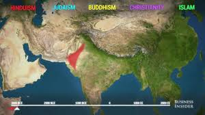 Religion World Map by Animated Map Shows How To Religion Spread Around The World Youtube