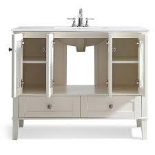 42 inch paige soft white bath vanity u2013 simpli home