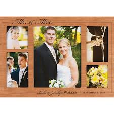 personalized wedding photo frame personalized wedding collage frame cherry wood p graham dunn person