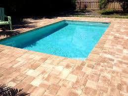 Concrete Patio Vs Pavers by Patio Licious South Pavers Brick And Travertine Pool Tampa Pools